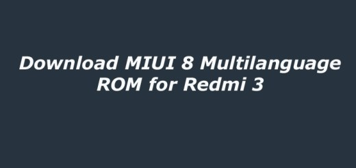 Download MIUI 8 Multilanguage ROM for Redmi 3
