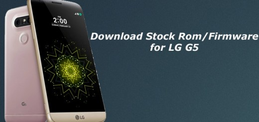 Download and Install Stock Rom on LG G5