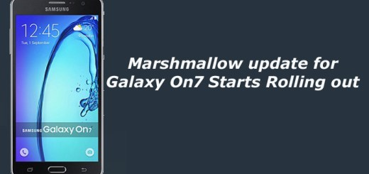 Marshmallow update for Galaxy On7 Starts Rolling out