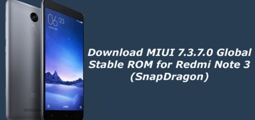 Download MIUI 7.3.7.0 Global Stable ROM for Redmi Note 3 (SnapDragon)