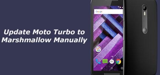 Update Moto Turbo to Marshmallow Manually