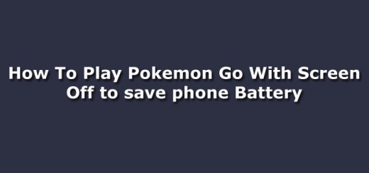 How To Play Pokemon Go With Screen Off to save phone Battery