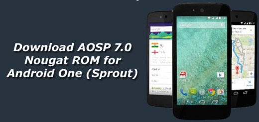 Download AOSP 7.0 Nougat ROM for Android One