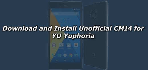Download and Install Unofficial CM14 for YU Yuphoria