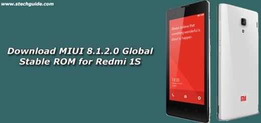 Download MIUI 8.1.2.0 Global Stable ROM for Redmi 1S