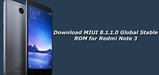 Download MIUI 8.1.1.0 Global Stable ROM for Redmi Note 3