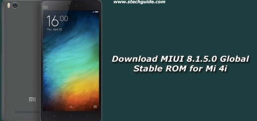 Download MIUI 8.1.5.0 Global Stable ROM for Mi 4i