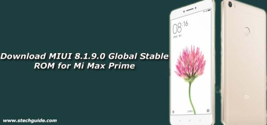 Download MIUI 8.1.9.0 Global Stable ROM for Mi Max Prime