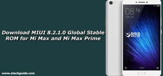 Download MIUI 8.2.1.0 Global Stable ROM for Mi Max and Mi Max Prime