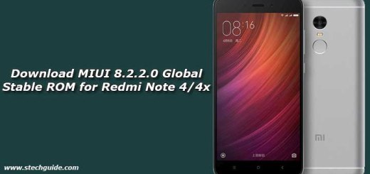 Download MIUI 8.2.2.0 Global Stable ROM for Redmi Note 4/4x