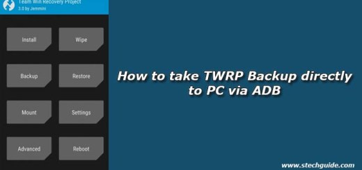 How to take TWRP Backup directly to PC via ADB