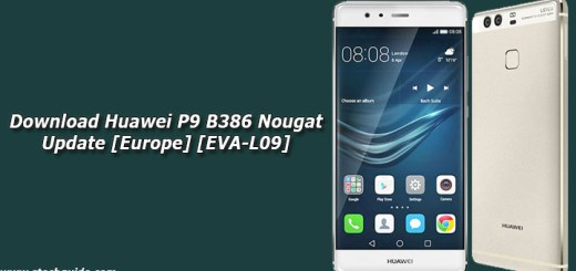 Download Huawei P9 B386 Nougat Update [Europe] [EVA-L09]