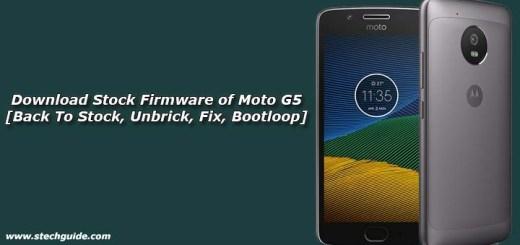 Download Stock Firmware of Moto G5 [Back To Stock, Unbrick, Fix Bootloop]