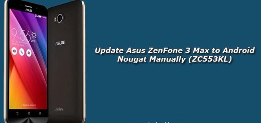 Update Asus ZenFone 3 Max to Android Nougat Manually (ZC553KL)