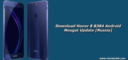 Download Honor 8 B384 Android Nougat Update [Russia]