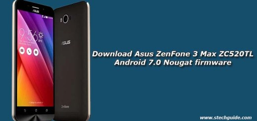 Download Asus ZenFone 3 Max ZC520TL Android 7.0 Nougat firmware