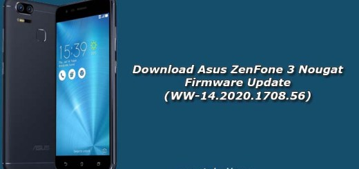 Download Asus ZenFone 3 Nougat Firmware Update (WW-14.2020.1708.56)
