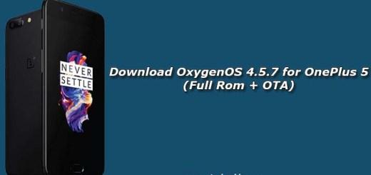 Download OxygenOS 4.5.7 for OnePlus 5 (Full Rom + OTA)