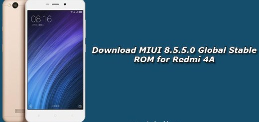 Download MIUI 8.5.5.0 Global Stable ROM for Redmi 4A
