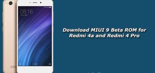 Download MIUI 9 Beta ROM for Redmi 4a and Redmi 4 Pro