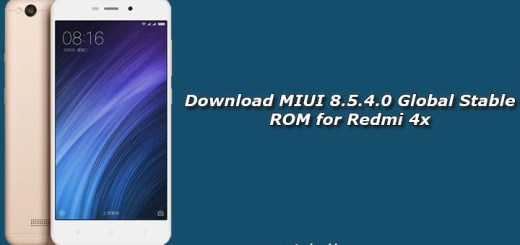 Download MIUI 8.5.4.0 Global Stable ROM for Redmi 4x