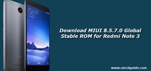 Download MIUI 8.5.7.0 Global Stable ROM for Redmi Note 3