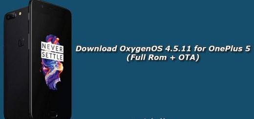 Download OxygenOS 4.5.11 for OnePlus 5 (Full Rom + OTA)