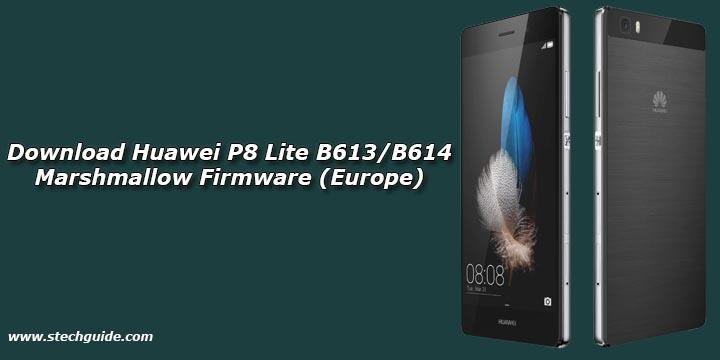 Download Huawei P8 Lite B613/B614 Marshmallow Firmware (Europe)