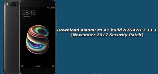 Download Xiaomi Mi A1 build N2G47H.7.11.1 (November 2017 Security Patch)