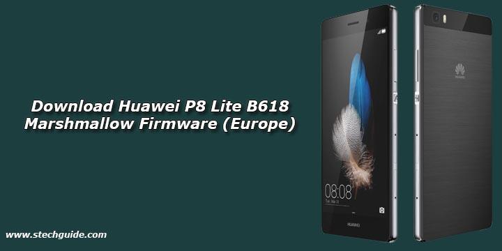Download Huawei P8 Lite B618 Marshmallow Firmware (Europe)