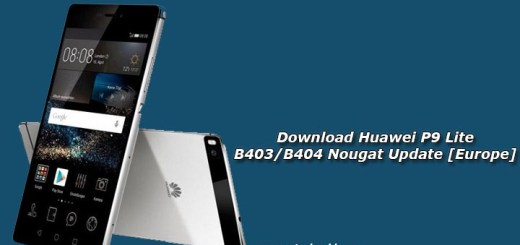Download Huawei P9 Lite B403/B404 Nougat Update [Europe]