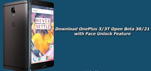 Download OnePlus 3/3T Open Beta 30/21 with Face Unlock Feature