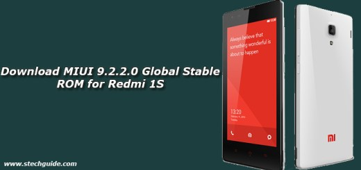 Download MIUI 9.2.2.0 Global Stable ROM for Redmi 1S