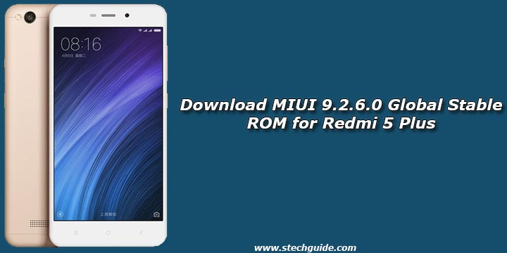 Download MIUI 9.2.6.0 Global Stable ROM for Redmi 5 Plus