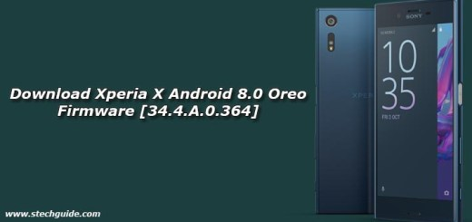 Download Xperia X Android 8.0 Oreo Firmware [34.4.A.0.364]