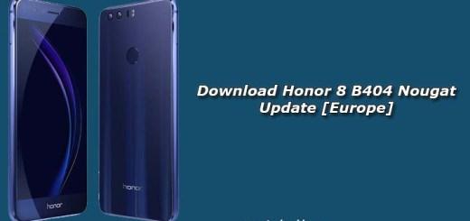 Download Honor 8 B404 Nougat Update [Europe]
