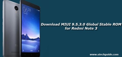 Download MIUI 9.5.3.0 Global Stable ROM for Redmi Note 3