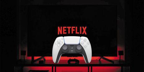 게임 시장 진출을 선언한 글로벌 OTT(온라인 동영상 서비스) 기업 넷플릭스의 로고에 게임 패드를 합성한 사진. / 긱크레이즈