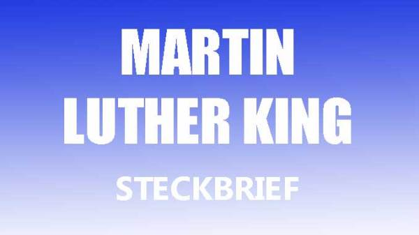 martin luther king steckbrief # 32