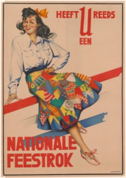 Affiche Nationale Feestrok, Dolly Rüdeman, 1946. Collectie Centraal Museum Utrecht