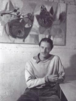 Eugène Brands, Oude Zijds Voorburgwal Amsterdam, omstreeks 1949. Fotografie: Frits Lemaire
