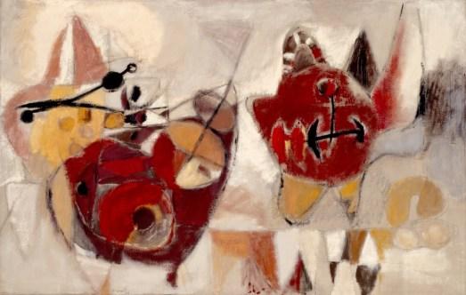 Eugène Brands, Twee vormen, 1949, collectie Stedelijk Museum Schiedam
