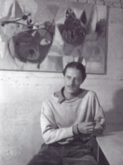 Eugène Brands, Oude Zijds Voorburgwal Amsterdam, around 1949. Photo Frits Lemaire