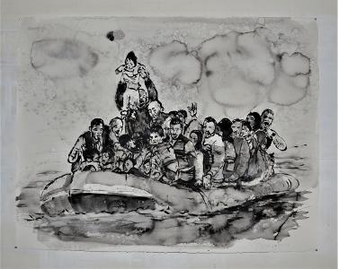 Nour-Eddine Jarram, Exodus, 2018. Collectie Stedelijk Museum Schiedam, Schenking NOG Collectie/Stichting Beheer SNS REAAL