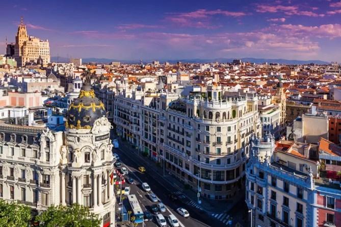Madrid stadsgezicht