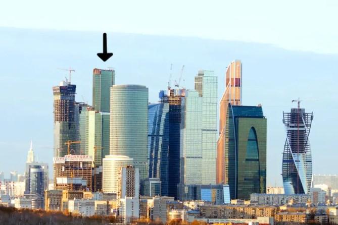 Moskou skyline incl Eurasia 780