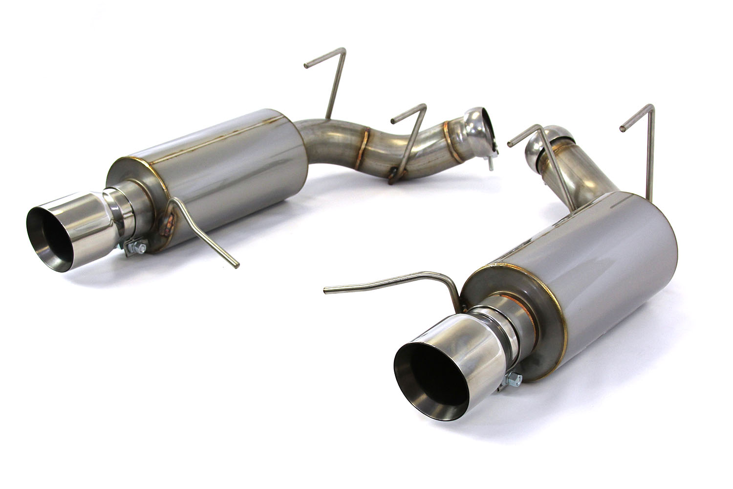 steeda 555 3614 mustang gt axle back exhaust system 11 14