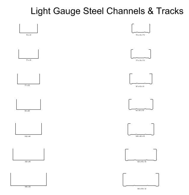 Metal Stud Framing Sizes : Light gauge steel framing sizes lightneasy
