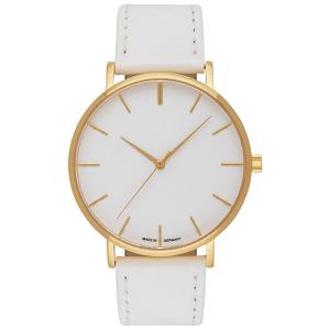 Uhr inklusive Gravur gehäuse gold zifferblatt weiß