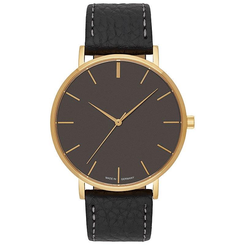 Uhr inkusive Gravur farbe gold grau